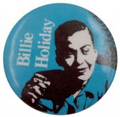 Billie Holiday - 'Blue' Button Badge
